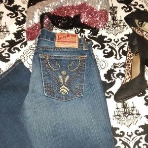 🍀Lucky Brand🍀 Dungarees LIL EMERALD JEAN 6 R